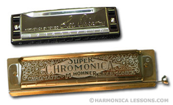 Diatonic and chromatic harmonicas